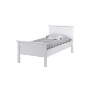 Elegantná biela posteľ PARIS