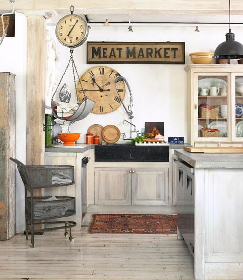 Patinovane drevene tramy a kuchynske dvierka