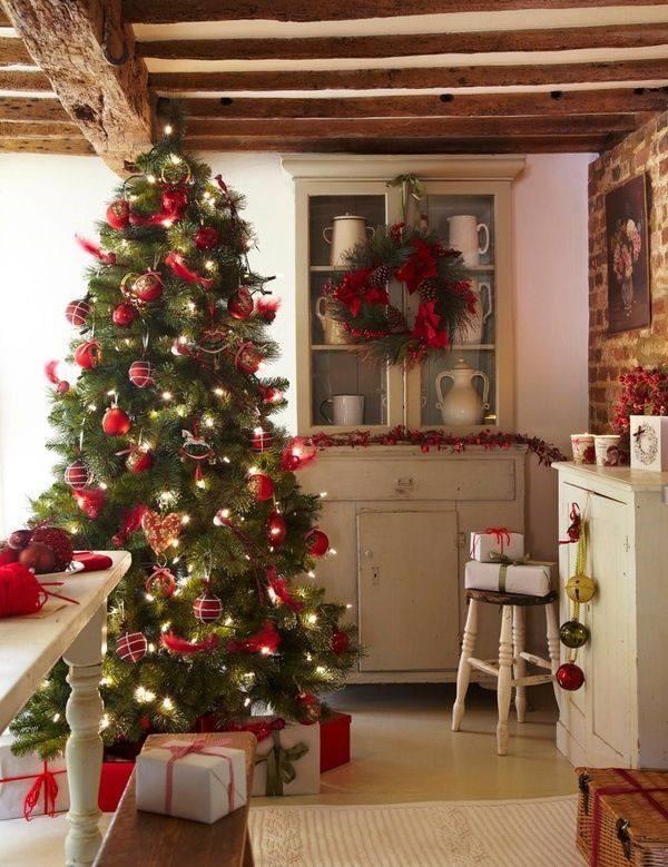 Vianocny stromcek v kuchyni