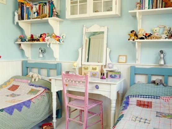 Štýlová detská spálňa pre dve detičky.