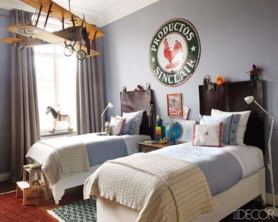 """Útulná detská spálňa v štýle """"vintage""""."""